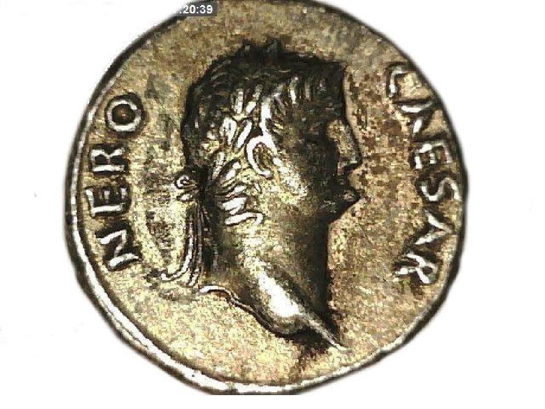 Roman Imperial Emperor Nero Colossus Statue Denarius - 6
