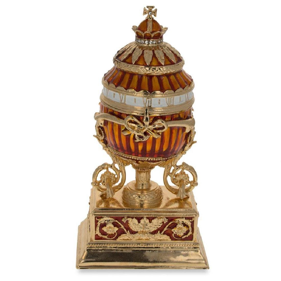 1899 Bouquet Of Lilies Clock Faberge Egg - 2