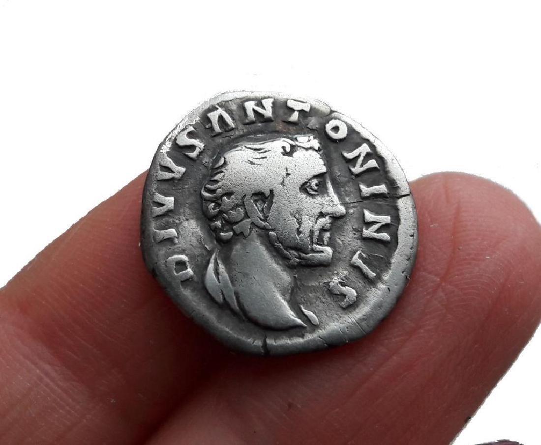 Roman Denarius Silver Coin Original Antoninus Pius