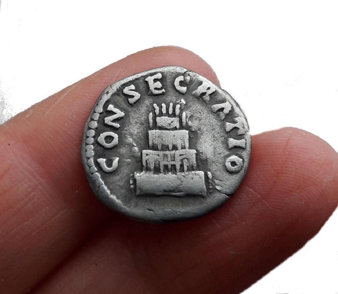 Roman Denarius Silver Coin Original Antoninus Pius - 2