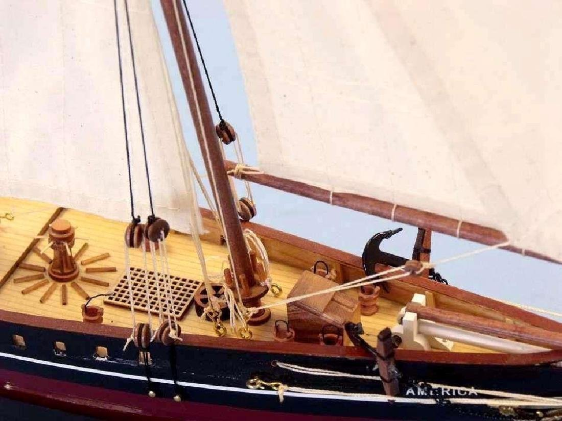 """Wooden America Limited Model Sailboat 24"""" - 8"""