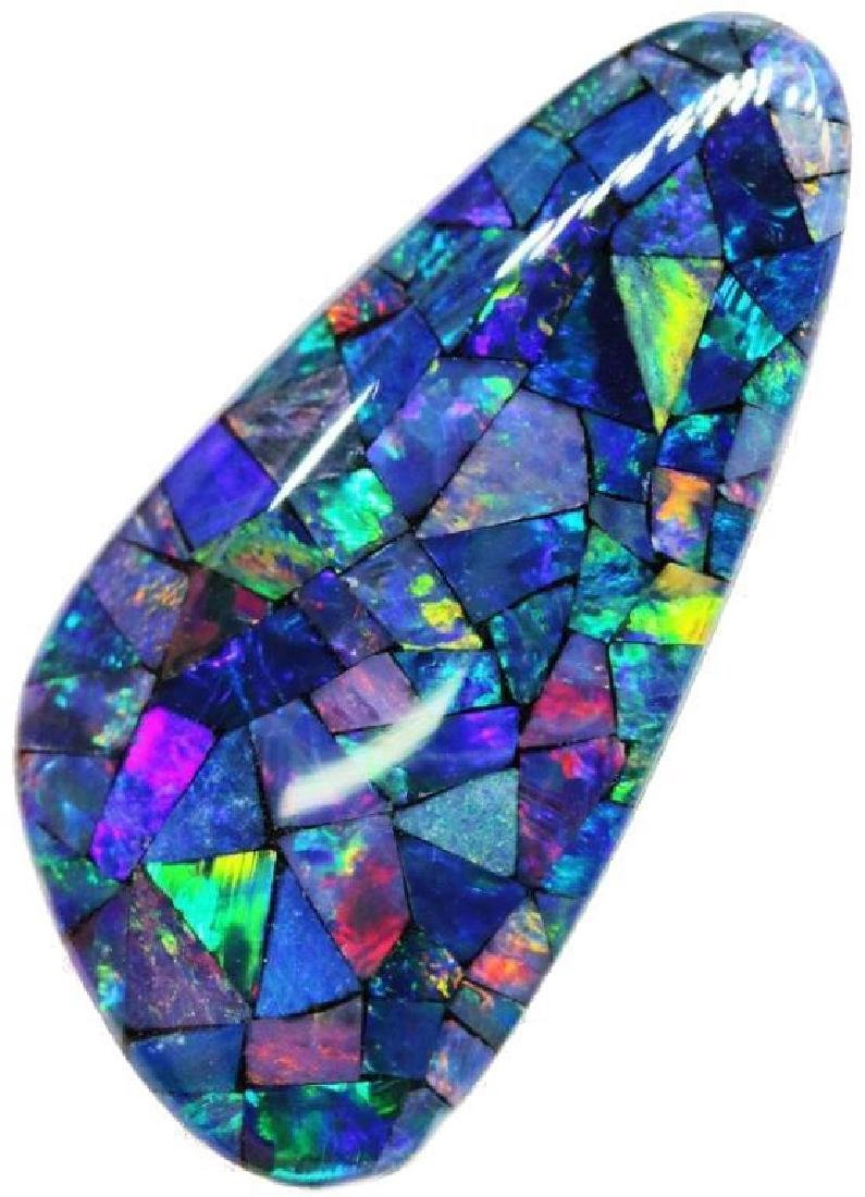 13.8 ct Australian Mosaic Triplet Opal