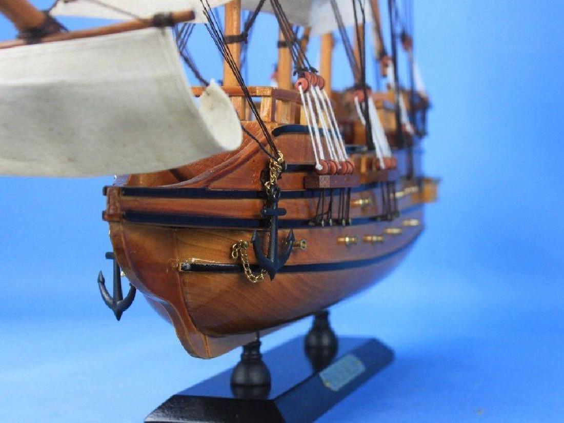"Wooden Spanish Galleon Tall Model Ship 20"" - 4"