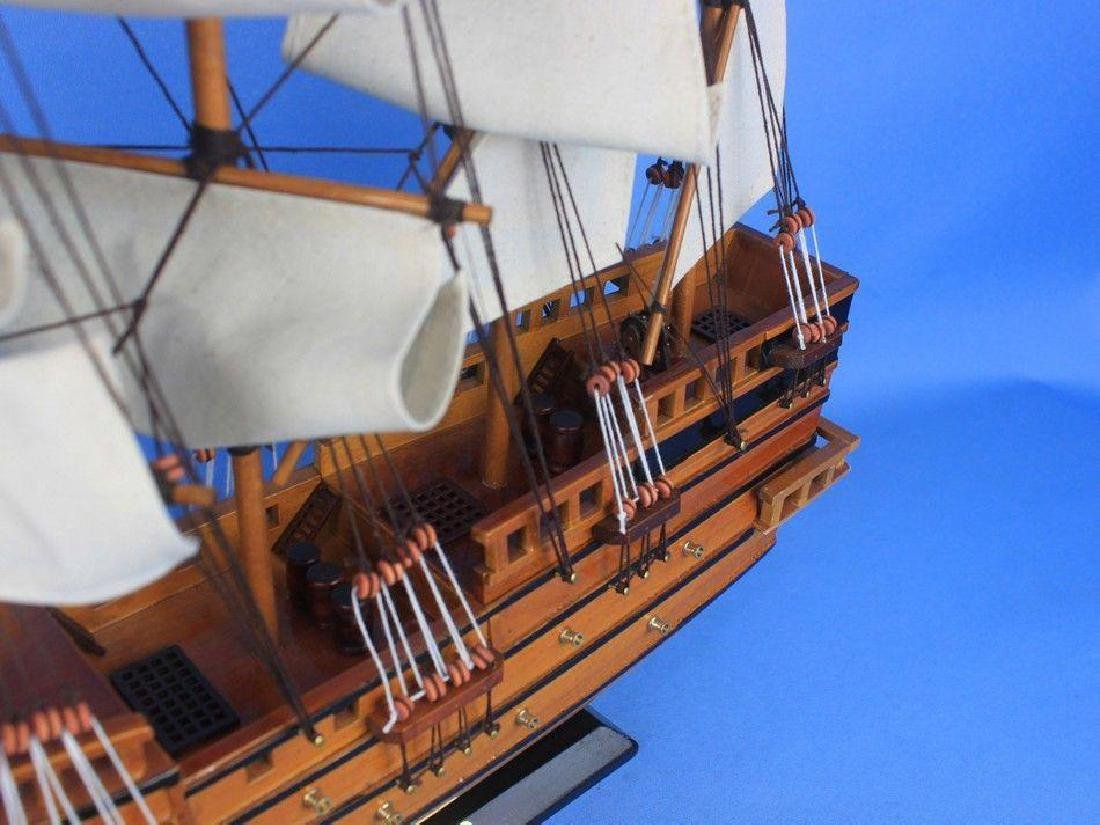 "Wooden Spanish Galleon Tall Model Ship 20"" - 9"