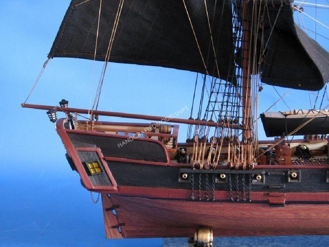 """Wooden Caribbean Pirate Ship Model Limited 26"""" - Black - 3"""