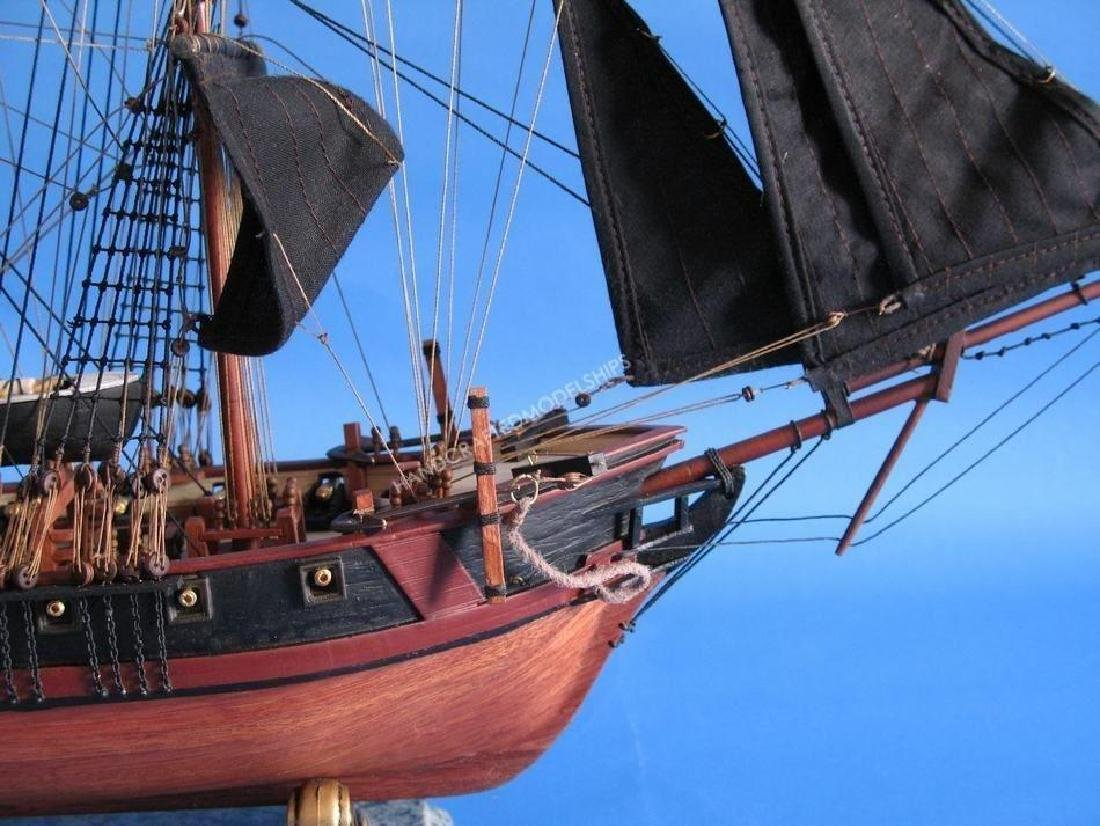 """Wooden Caribbean Pirate Ship Model Limited 26"""" - Black - 5"""