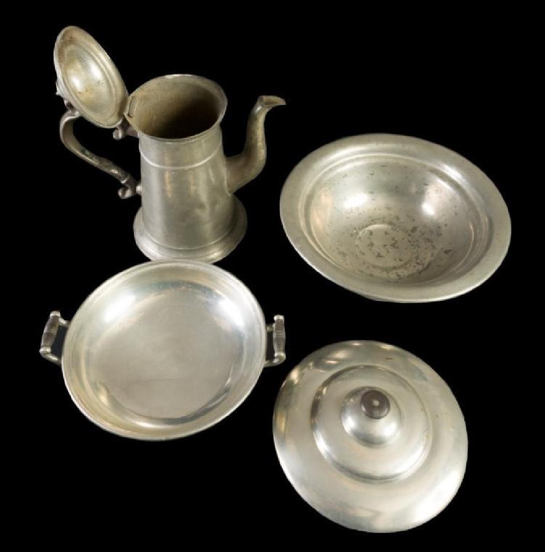 HUGE collection of fine English and American Pewter (12