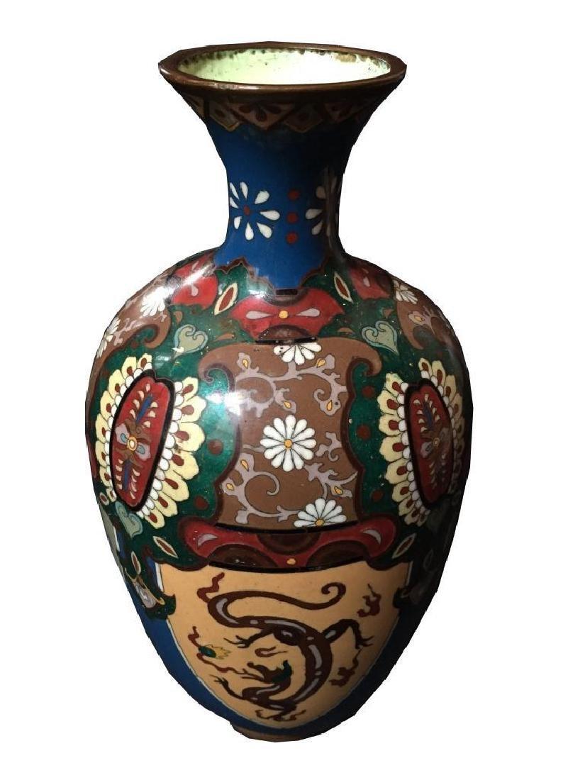 19thc Japanese Meiji Cloisonne Cabinet Vase
