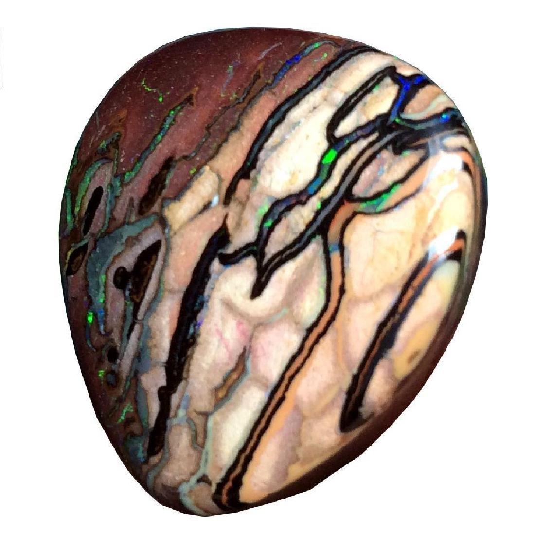 34.25ct Australian Boulder Opal Stone TOP QUALITY Color