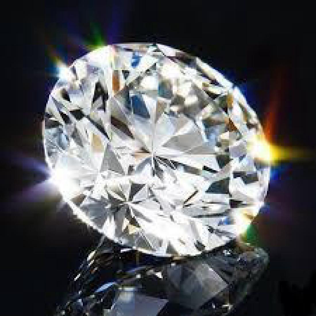 Round 36 Ct. Bianco Diamond.