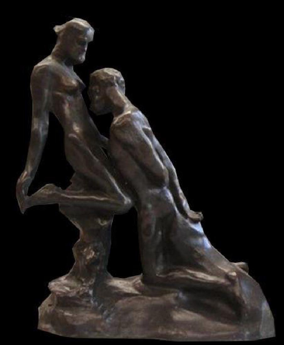 Eternal Idol By Rodin Lovers Statue Bonded Bronze