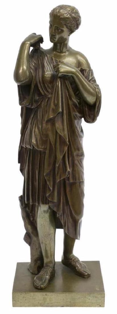 A. Lemaire Patinated Bronze, Diane De Gabies