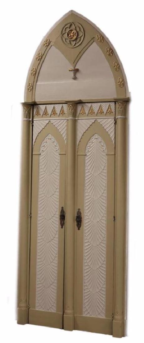 (2) Italian Gothic Revival Architectural Doors