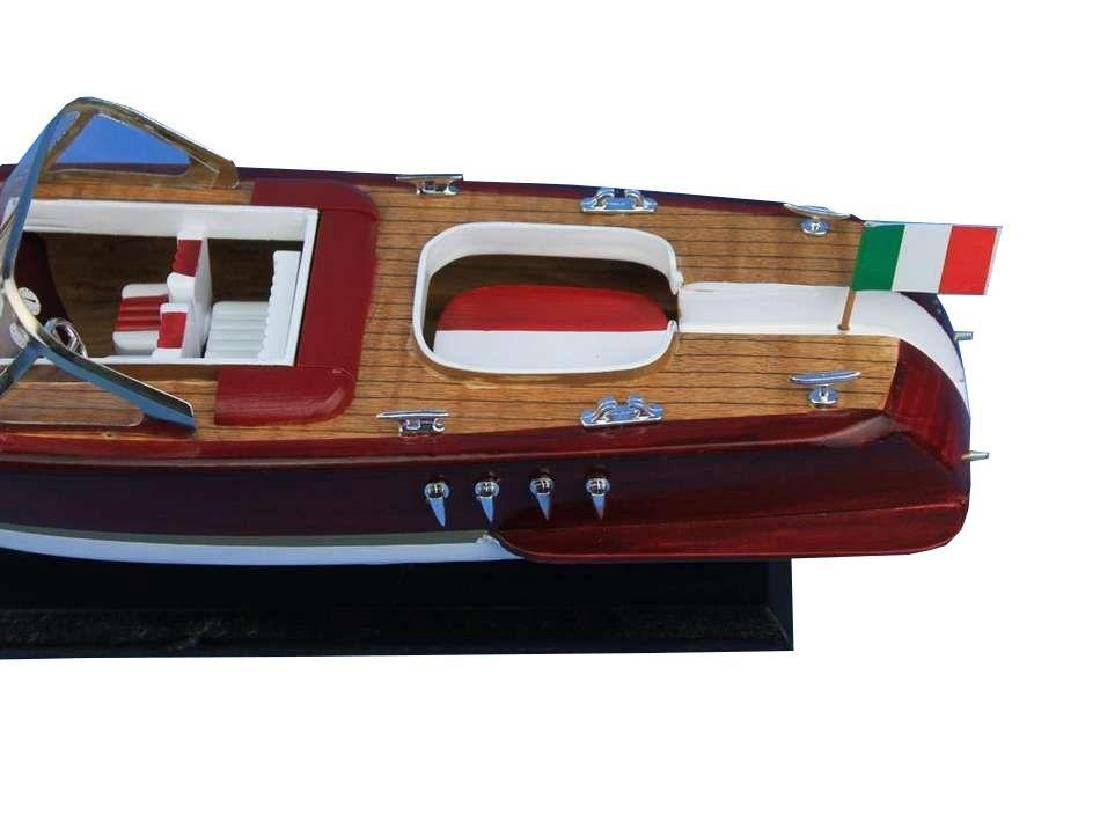 Wooden Riva Aquarama Model Speed Boat 14'' - 10