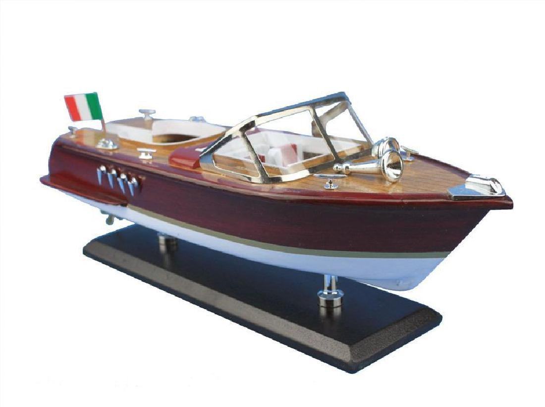 Wooden Riva Aquarama Model Speed Boat 14''
