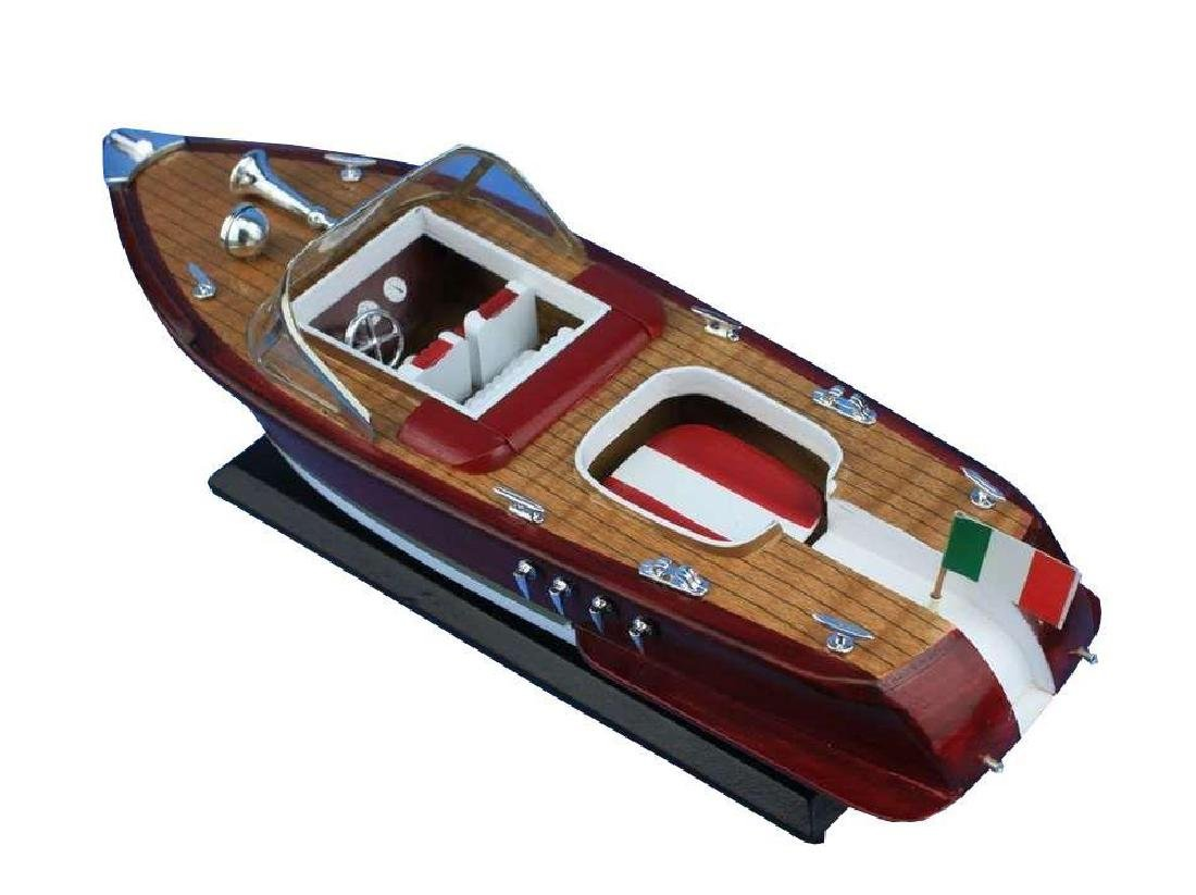 Wooden Riva Aquarama Model Speed Boat 14'' - 2