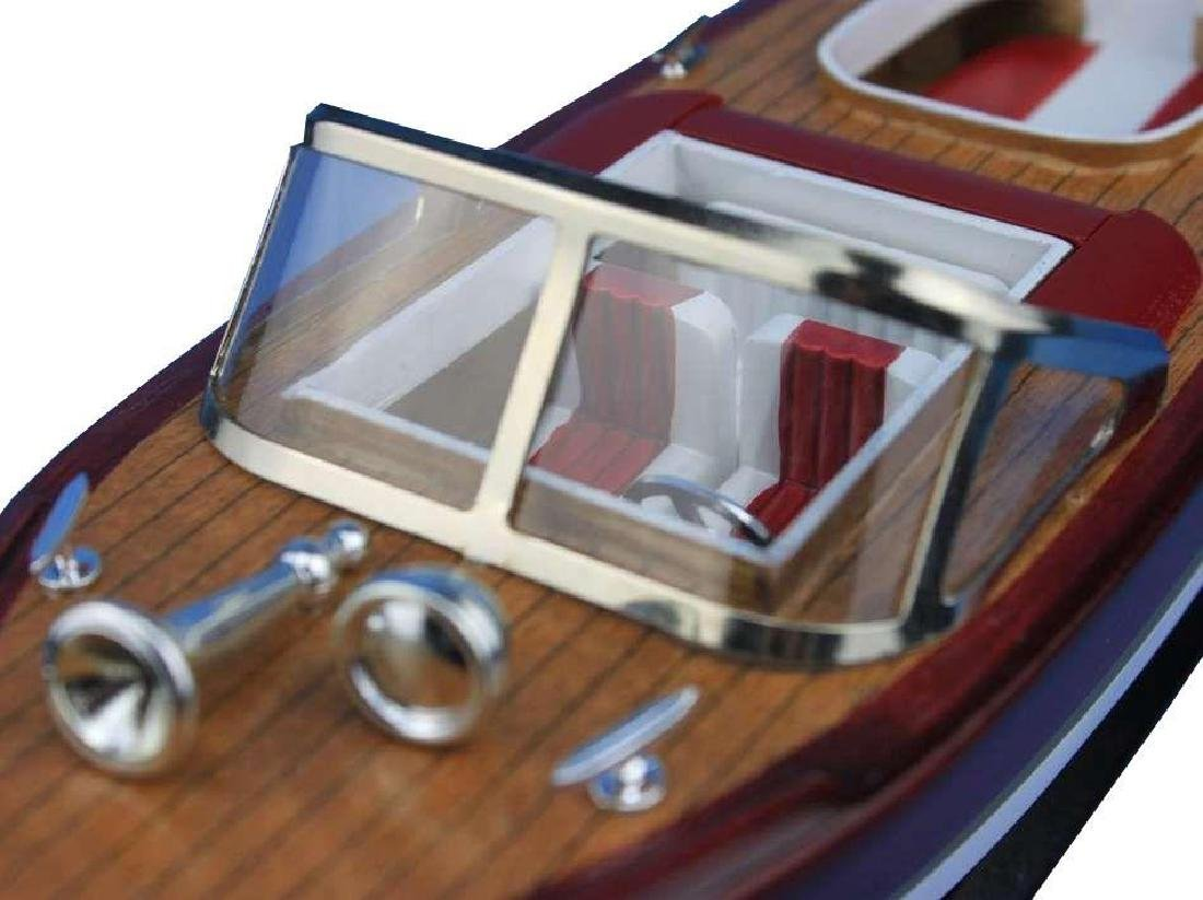 Wooden Riva Aquarama Model Speed Boat 14'' - 3