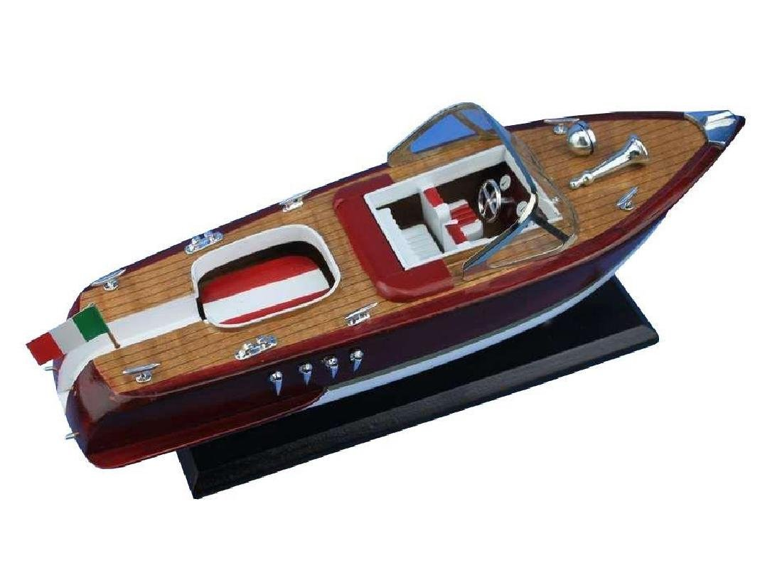 Wooden Riva Aquarama Model Speed Boat 14'' - 4