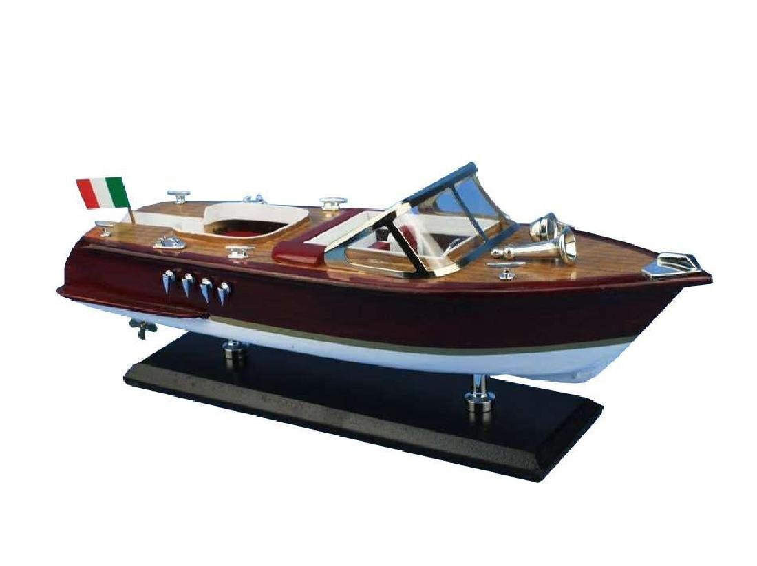 Wooden Riva Aquarama Model Speed Boat 14'' - 5