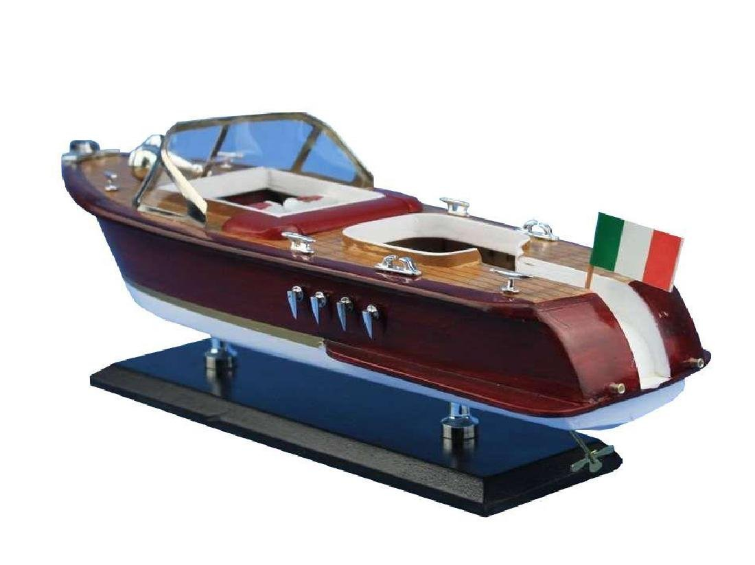 Wooden Riva Aquarama Model Speed Boat 14'' - 6