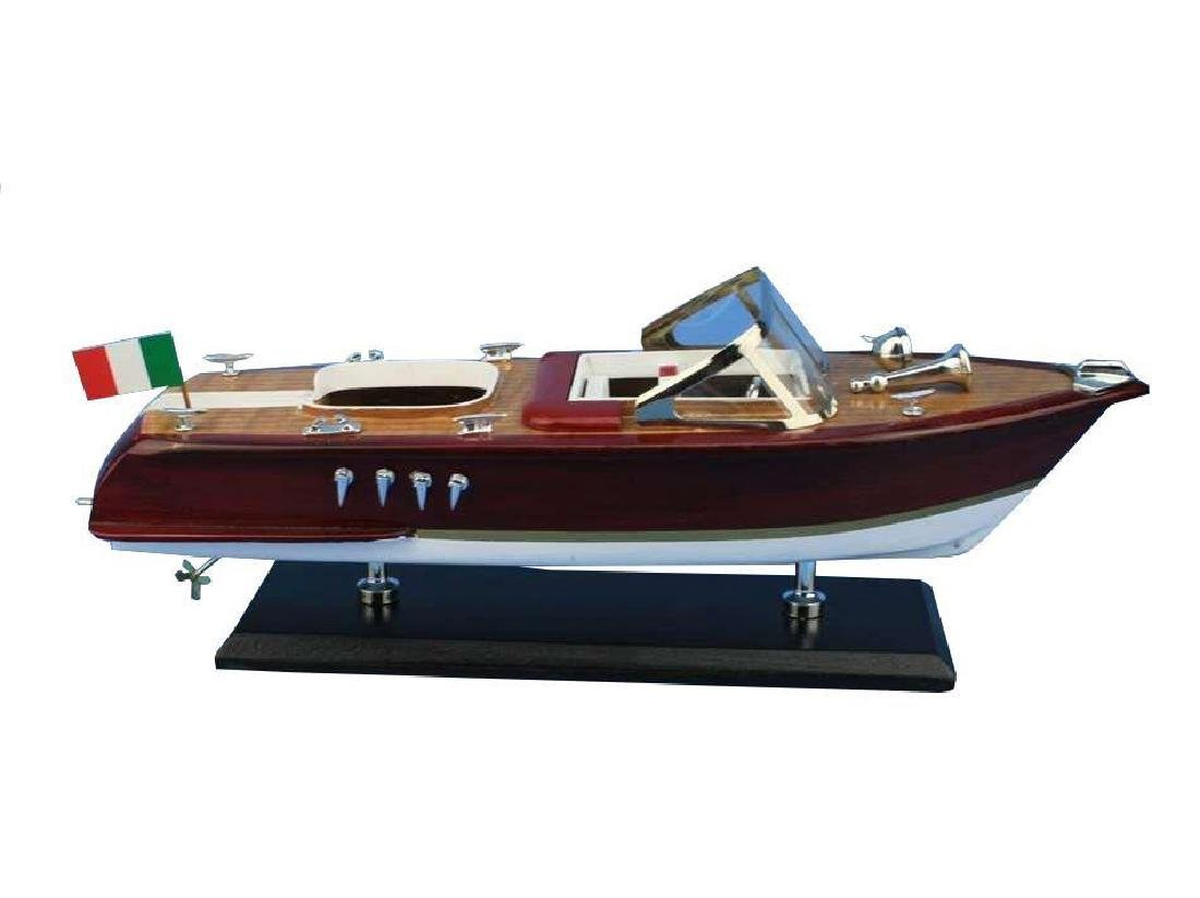Wooden Riva Aquarama Model Speed Boat 14'' - 7