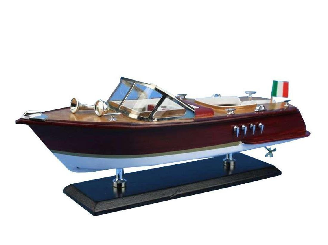 Wooden Riva Aquarama Model Speed Boat 14'' - 8