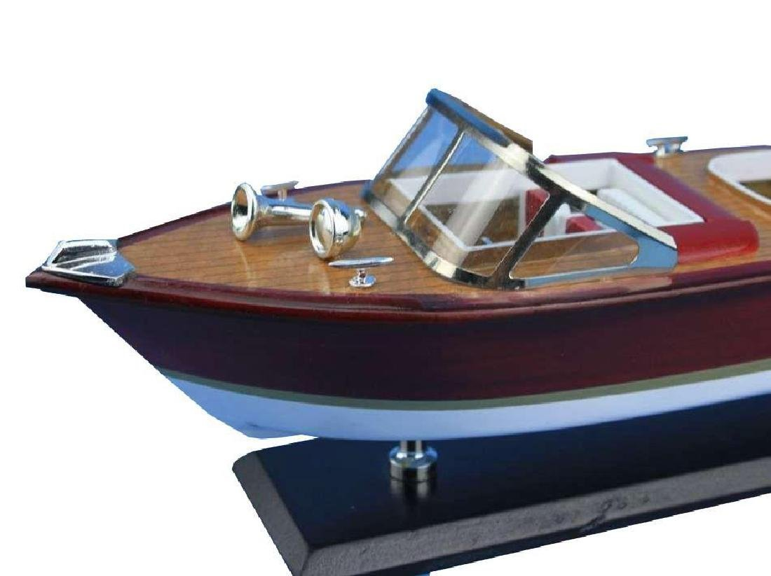 Wooden Riva Aquarama Model Speed Boat 14'' - 9