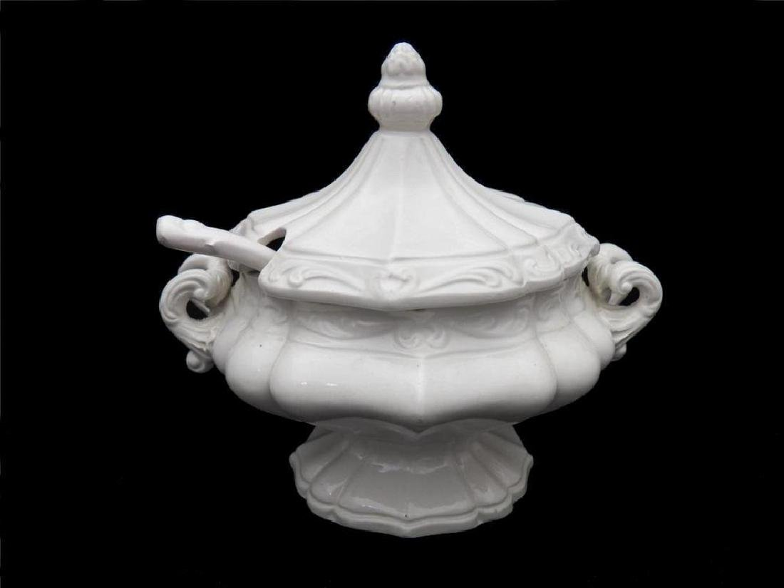 Ornate Victorian Italian Cream Ceramic Tureen