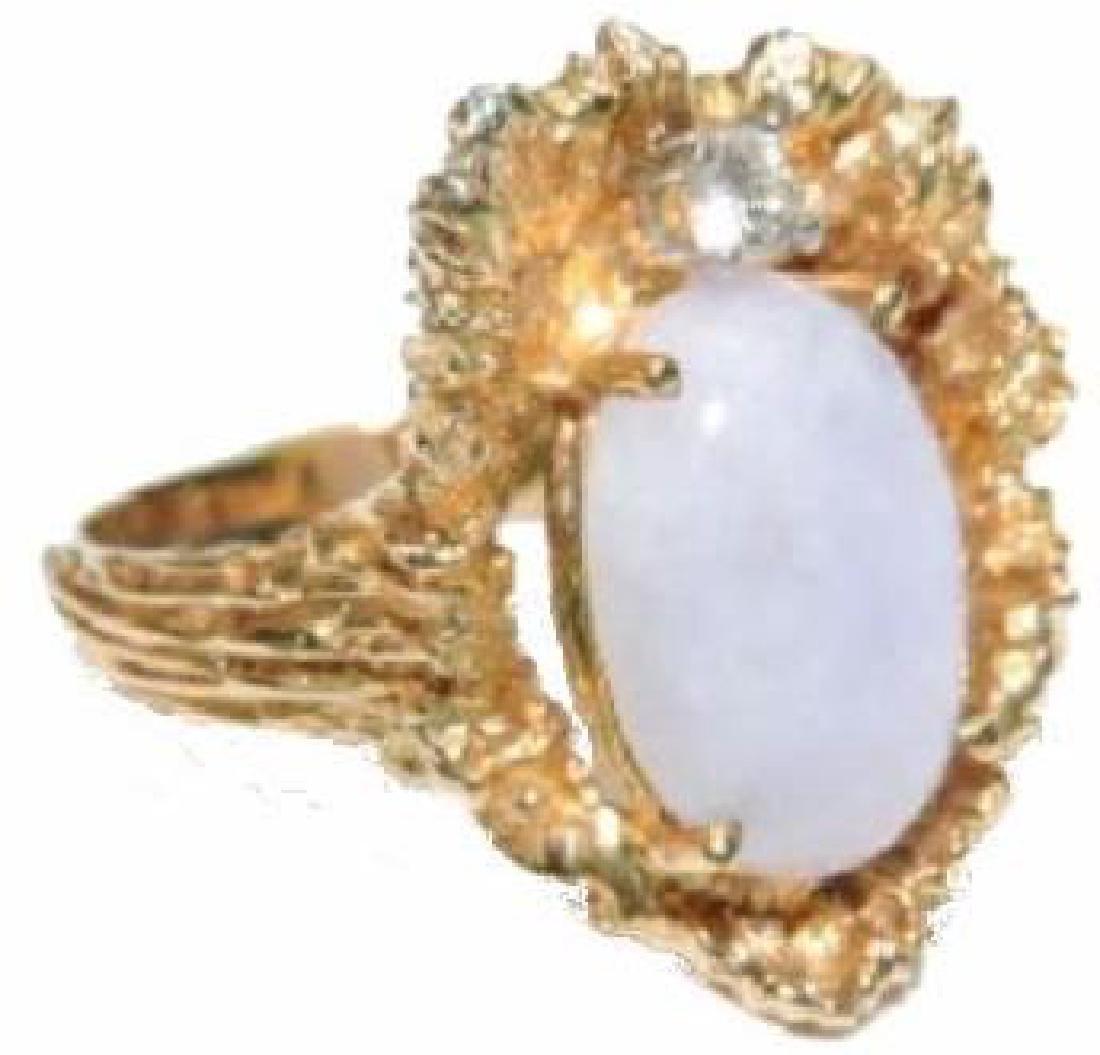 Beautiful Violet Opal and 14k yg ladies ring