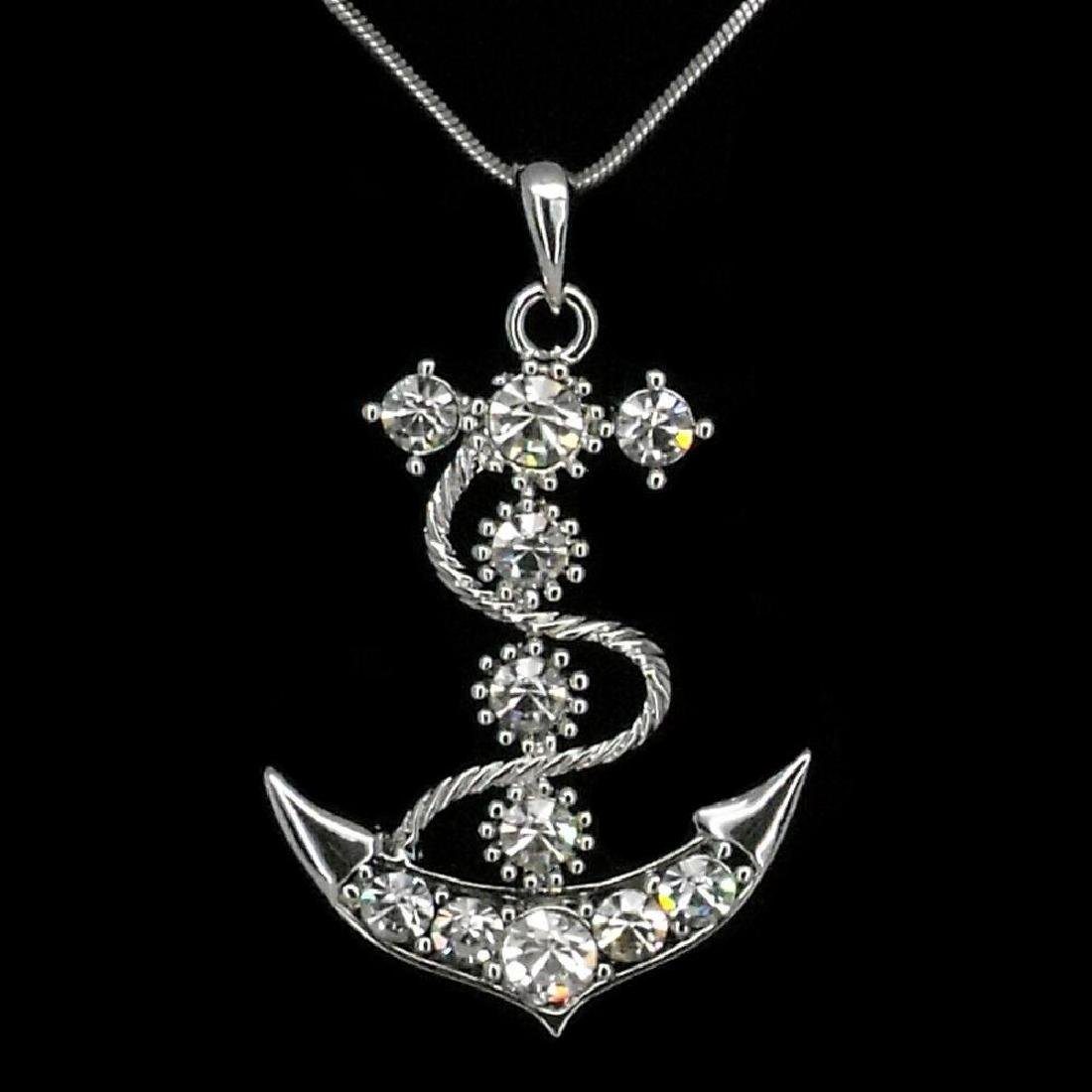 Smooth Sailing Anchor Necklace Pendant Jewelry 18k W Gp