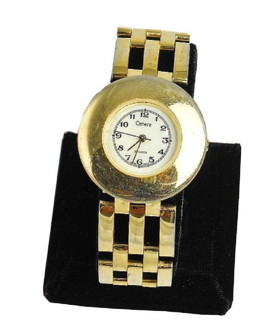 Ladies Gold Cenere Quartz Wristwatch