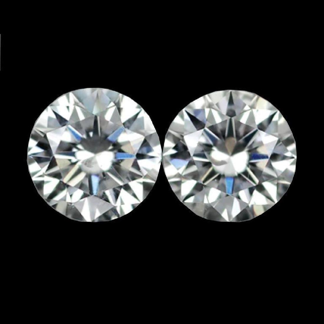 Pair, 4ct ( 8 ctw ) Brilliant Cut BIANCO Diamonds