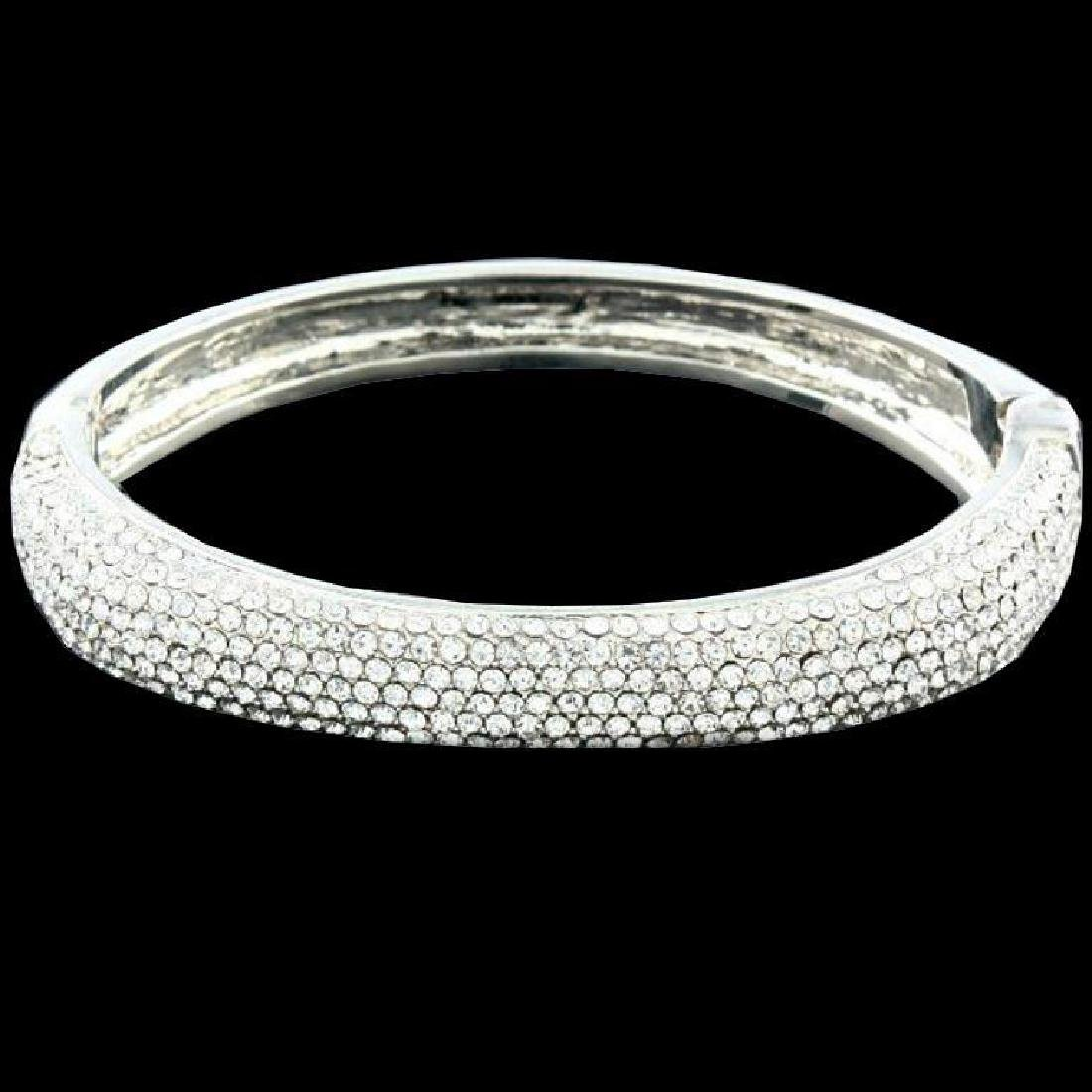 Sparkling Swarovski Crystal Bangle Bracelet