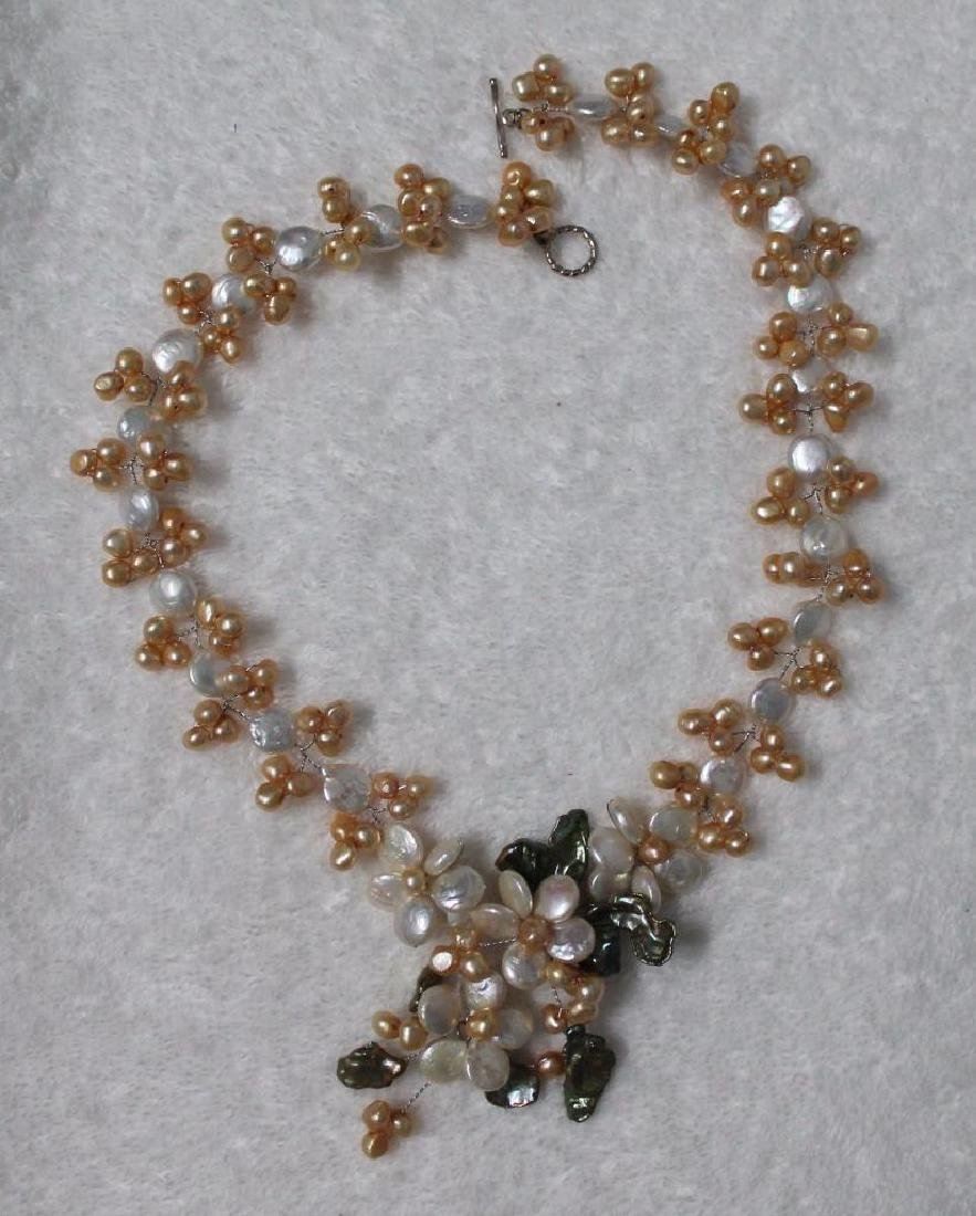 Vnk34 One 18.5 Inches Long Handcrafted Genuine Pearl - 2