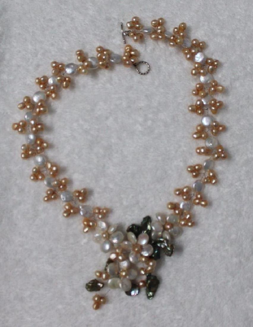 Vnk34 One 18.5 Inches Long Handcrafted Genuine Pearl - 5