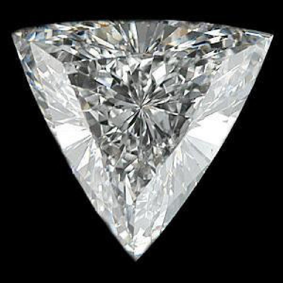 4ct Trillion Cut BIANCO Diamond