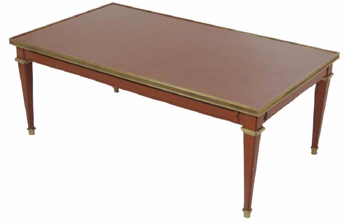 Jansen Style Louis Xv Style Brass Coffee Table