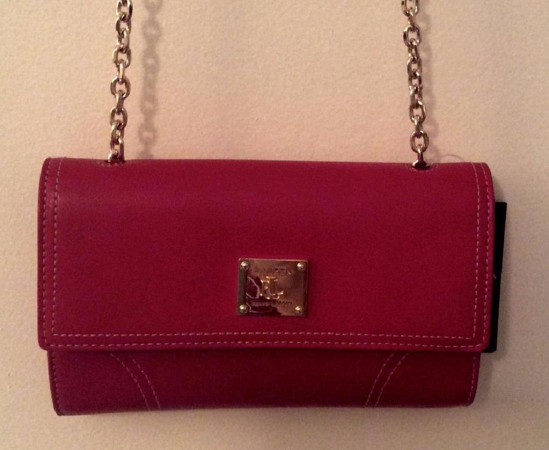 Ralph Lauren Designer Small Red Ashwell Leather