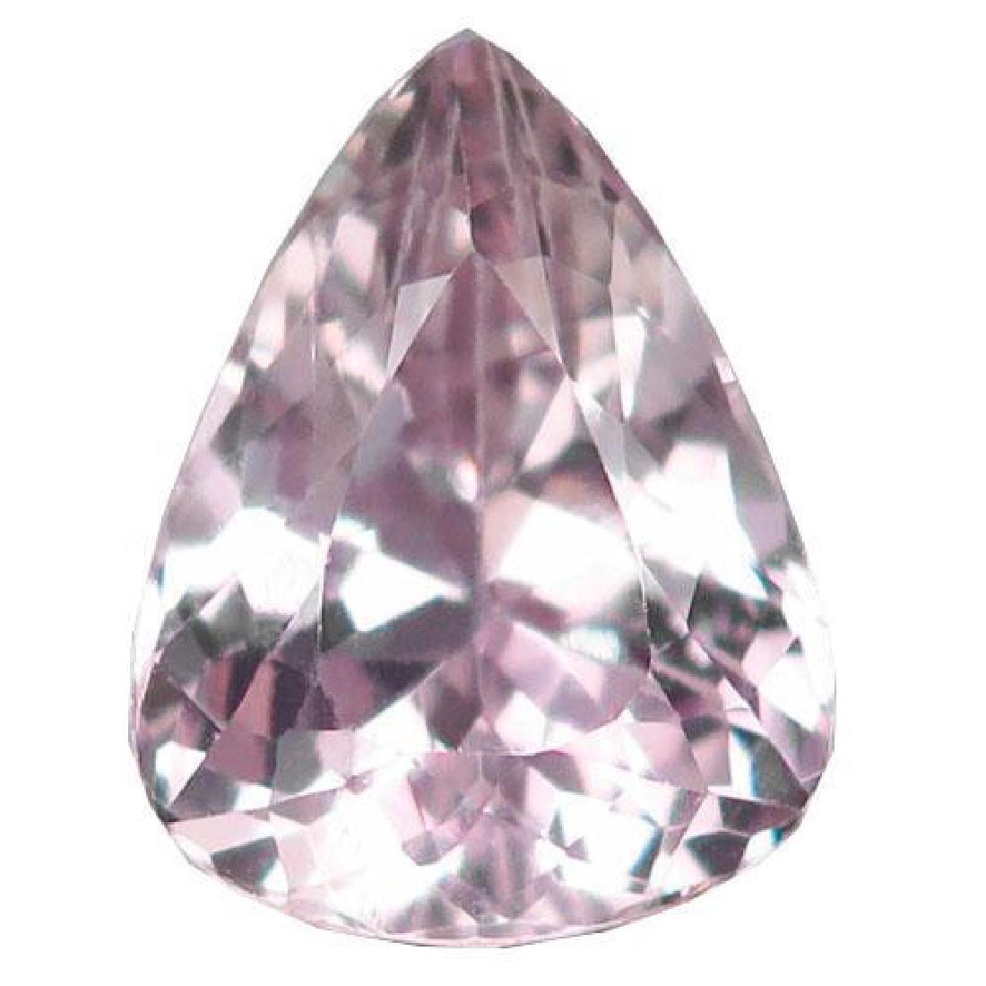 5.17ct Natural Silver Pink Brazilian Pear Cut Kunzite