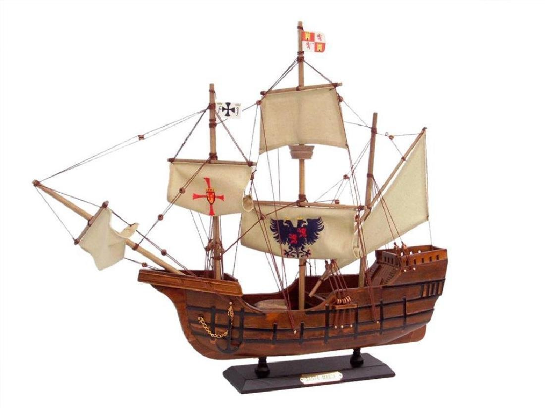 Wooden Santa Maria Limited Tall Model Ship 20""