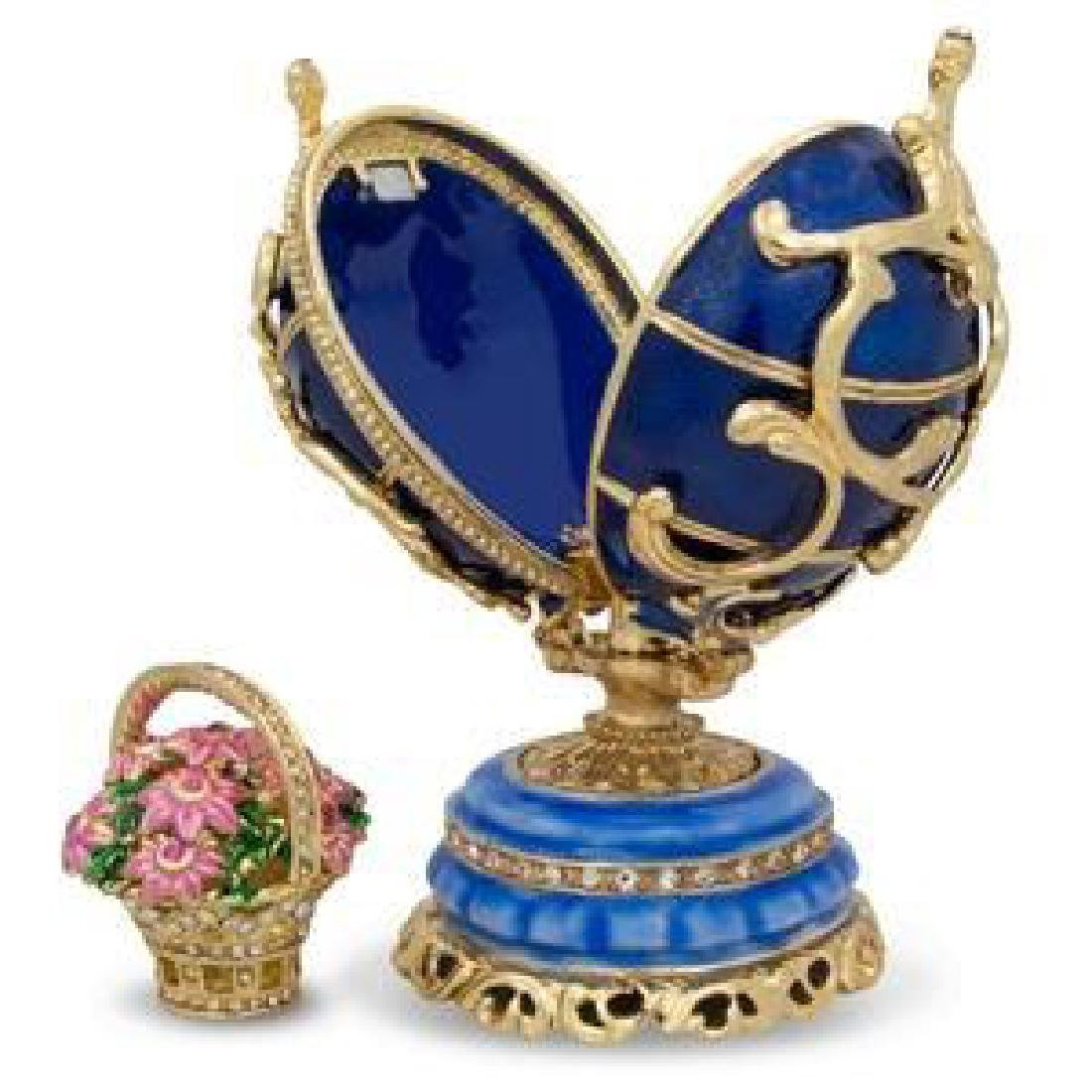 1899-1903 Spring Flowers in Blue Russian Faberge Egg