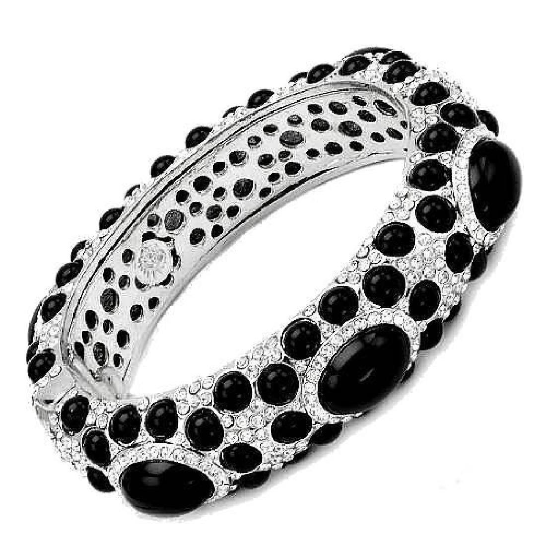 Angelique de Paris Onyx Swarovski Crystal Bracelet