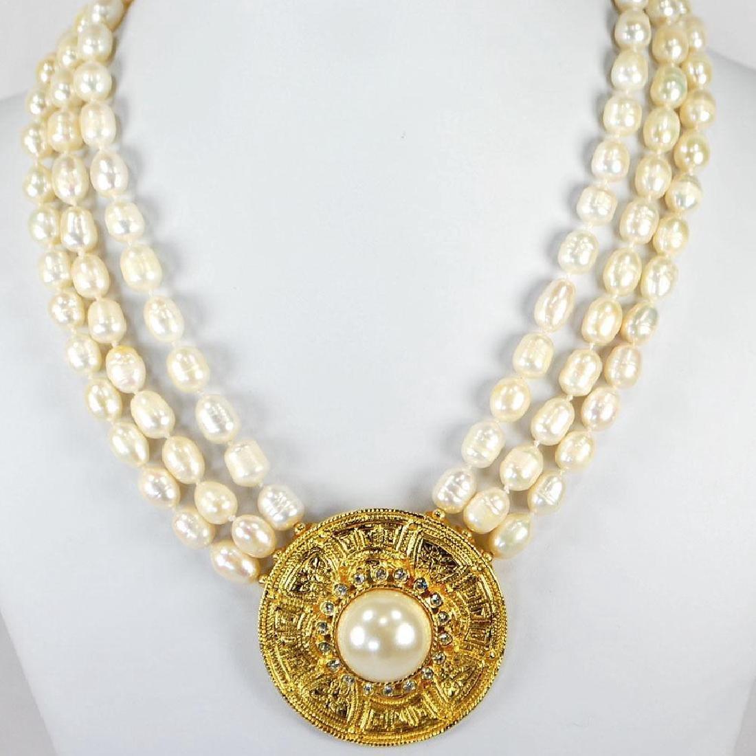 Strand Natural Freshwater Pearl Pendant 14k Gold Filled