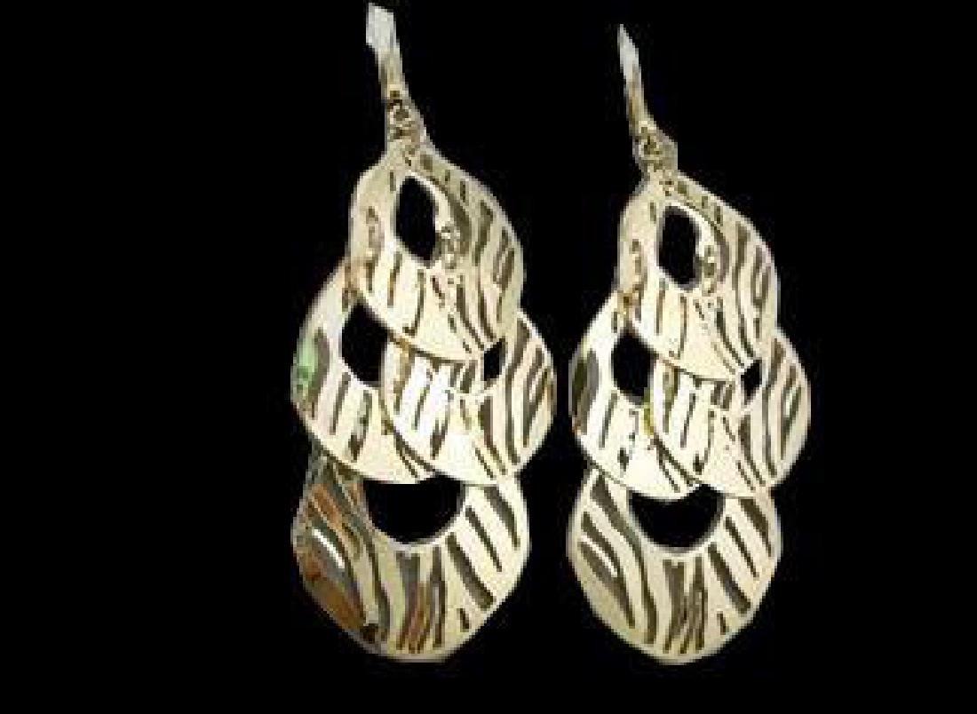 Gold Animal Chandelier Earrings