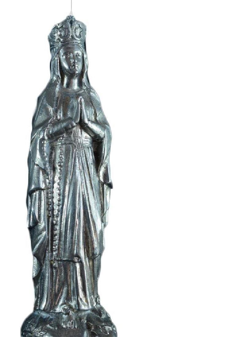 Antique 1920 French religious Statue open work Our Lady