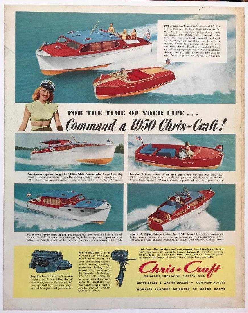 1950 Chris Craft Marine Boats Magazine Advertisement