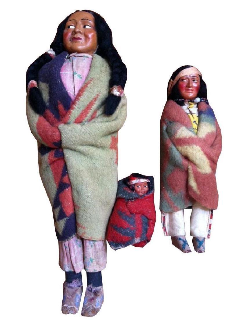 Mid Century Skookum Bully Good Indian Dolls