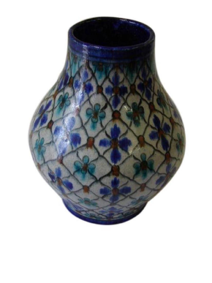 Early 20thc Arts & Crafts Persian Iznik Vase