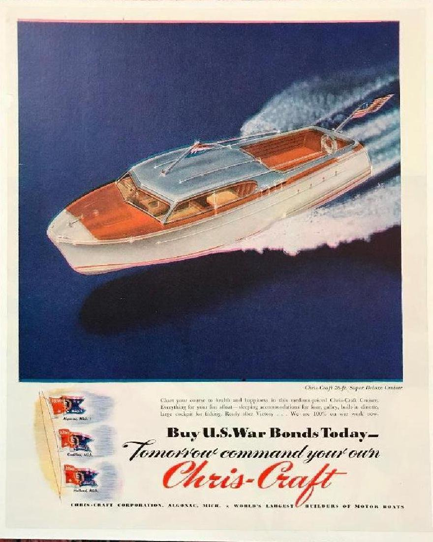 1940's WWII Era Chris-Craft Boat Magazine Ad