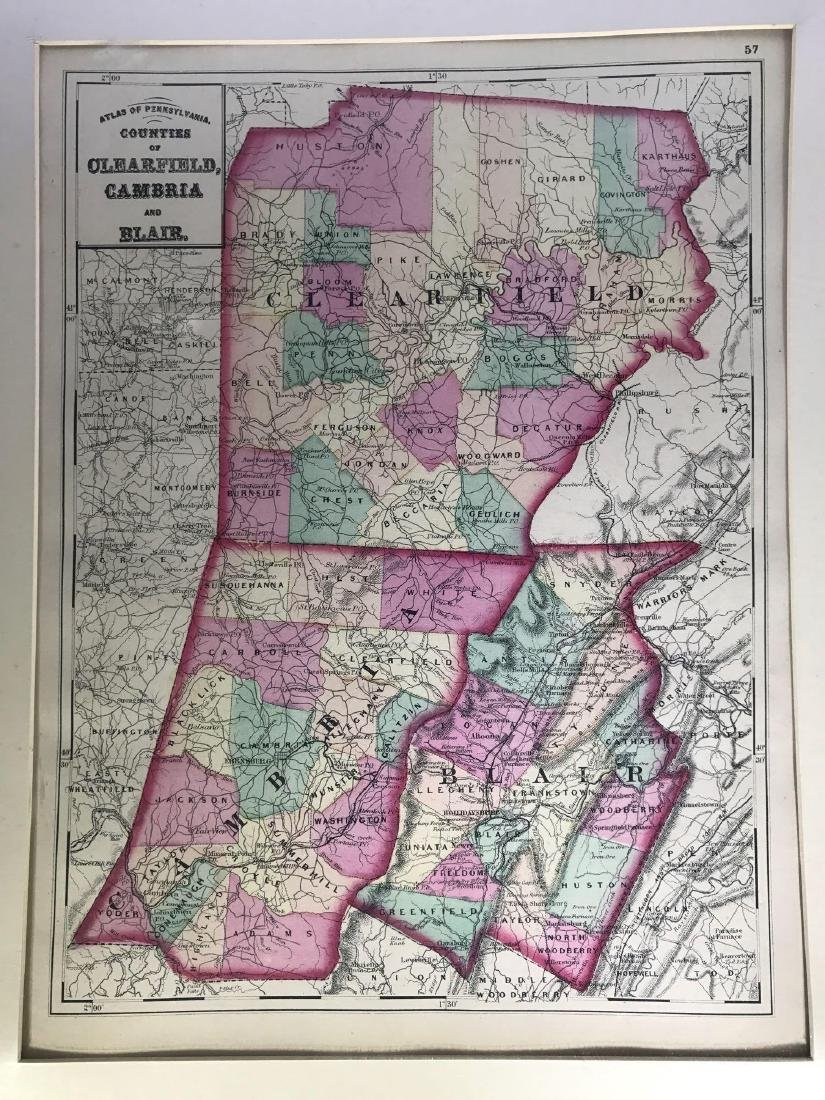Early Color Atlas of Pennsylvania: Counties of